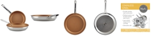 Ayesha Curry 2-Pc. Stainless Steel Non-Stick Skillet Set
