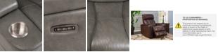 Furniture Helston Leather Triple Power Recliner