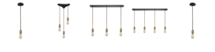 ELK Lighting Camley 1 Light Pendant in Polished Gold and Oil Rubbed Bronze
