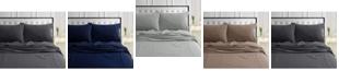 Tribeca Living 170-GSM Ultra-Soft Cotton Flannel Solid Extra Deep Pocket Full Sheet Set