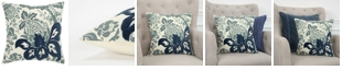 """Rizzy Home 18"""" x 18"""" Floral Pillow Collection"""