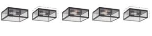 JONATHAN Y Grayson Metal/Glass LED Flush Mount
