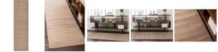 """Bridgeport Home Axbridge Axb3 Light Brown 2' 9"""" x 9' 10"""" Runner Area Rug"""