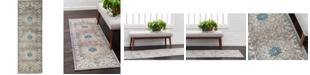 Bridgeport Home Bellmere Bel2 Gray 2' x 6' Runner Area Rug