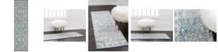 """Bridgeport Home Bellmere Bel6 Light Blue 2' 7"""" x 10' Runner Area Rug"""