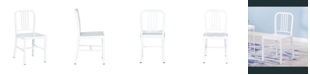 Ac Pacific Industrial Metal Indoor Dining Chair, Set of 2