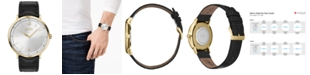 BOSS Men's Essential Ultra Slim Black Leather Strap Watch 40mm