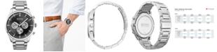 BOSS Men's Chronograph Pioneer Stainless Steel Bracelet Watch 44mm