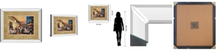 "Classy Art Café Van Gogh by Maria Zielinska Mirror Framed Print Wall Art, 34"" x 40"""