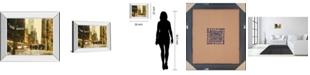 "Classy Art New York Streets by Acosta Mirror Framed Print Wall Art, 22"" x 26"""