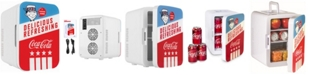 Cooluli Coca-Cola Americana-10L Compact Thermoelectric Cooler And Warmer Mini Fridge