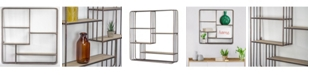 Crystal Art Gallery American Art Decor Rustic Wood and Multi-Unit Hanging Wall Shelf