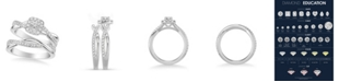 Macy's Diamond Halo Bridal Set (3/4 ct. t.w.) in 14k White, Yellow or Rose Gold