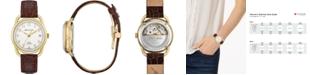 Bulova LIMITED EDITION Women's Swiss Automatic Joseph Bulova Brown Leather Strap Watch 34.5mm