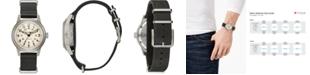 Bulova Men's Automatic Military Black Leather Strap Watch 38mm