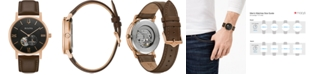 Bulova Men's Automatic Clipper Brown Leather Strap Watch 42mm