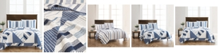 Martha Stewart Collection LAST ACT! Reversible Printed Geometric Sails Twin/Twin XL Quilt, Created for Macy's