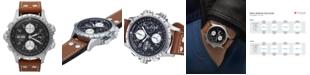 Hamilton Watch, Men's Swiss Automatic Chronograph Khaki X-Wind Brown Leather Strap 44mm H77616533