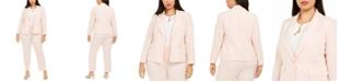 Le Suit Plus Size Pants Suit