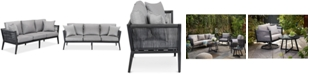 Furniture Braxtyn Outdoor Sofa with Sunbrella® Cushions, Created for Macy's