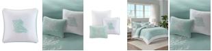 "Harbor House Coastline Embroidered 16"" Square Decorative Pillow"