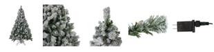 Northlight Pre-Lit Flocked Somerset Spruce Artificial Christmas Tree