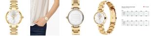 COACH Women's Park Gold-Tone Bracelet Watch 30mm