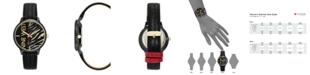 Nine West Women's Gunmetal and Black Textured Strap Watch, 36.5mm