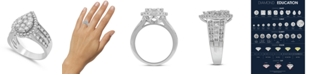 Macy's Diamond Pear-Shape Cluster Ring (2 ct. t.w.) in 14k White Gold