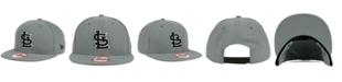 New Era St. Louis Cardinals Gray Black White 9FIFTY Snapback Cap