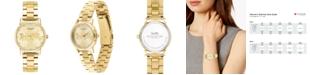 COACH Women's Grand Gold-Tone Stainless Steel Bracelet Watch 28mm