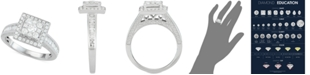 Centennial Diamond Square Cluster Engagement Ring (1 ct. t.w.) in 14k White Gold