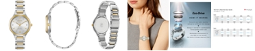 Citizen Eco-Drive Women's Corso Diamond-Accent Two-Tone Stainless Steel Bracelet Watch 29mm