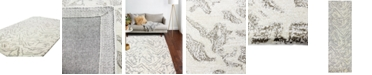 """BB Rugs CLOSEOUT!  Elements ELM-220 White 2'6"""" x 8' Runner Area Rug"""