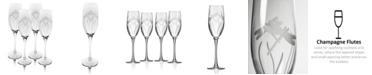 Rolf Glass Dragonfly Champagne Flute 8Oz - Set Of 4 Glasses