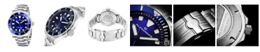 Stuhrling Alexander Watch A501B-02, Mens Quartz Diver Watch with Stainless Steel Case on Stainless Steel Bracelet