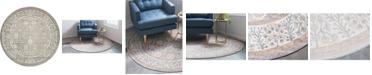 Bridgeport Home Bellmere Bel3 Gray 5' x 5' Round Area Rug