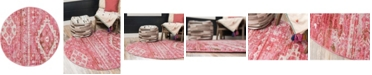 "Bridgeport Home Nira Nir2 Pink 3' 3"" x 3' 3"" Round Area Rug"