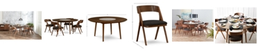 Furniture Oslo Dining Furniture, 5-Pc. Set (Lazy Susan Table & 4 Side Chairs), Created for Macy's