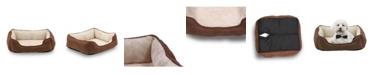 Happycare Textiles Orthopedic Rectangle Bolster Pet Bed, Super Soft Plush