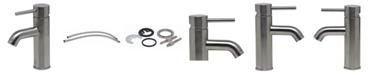 ALFI brand Brushed Nickel Single Lever Bathroom Faucet