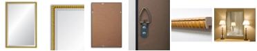 "Reveal Frame & Decor Reveal Golden Bamboo Beveled Wall Mirror - 24"" x 37.5"""