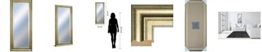 "Classy Art Decorative Framed Wall Mirror, 18"" x 42"""