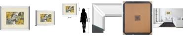 "Classy Art Garden Party in Gray 2 by Lanie Loreth Mirror Framed Print Wall Art, 34"" x 40"""