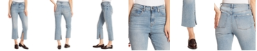 Ella Moss Slit-Hem Cropped Jeans