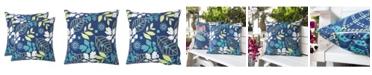 Homey Cozy Outdoor Pillow, Tropical Leaf - Set of 2