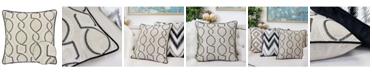 Homey Cozy Mila Embroidery Square Decorative Throw Pillow