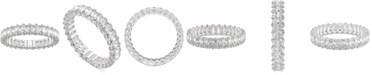 Charles & Colvard Moissanite Oval Eternity Band (2-9/10 ct. t.w. DEW) in 14k White Gold