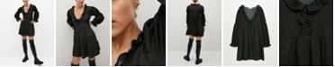 MANGO Women's Ruched Sleeve Dress