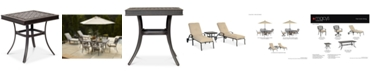 """Furniture Park Gate Cast Aluminum 22"""" Outdoor End Table, Created for Macy's"""